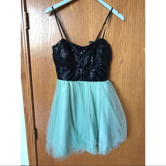3b898786838c Windsor Dresses | Black Sequinedmint Tutu Pretty Dress | Poshmark